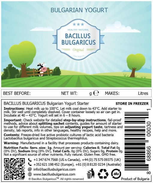 Yogurt starter label L