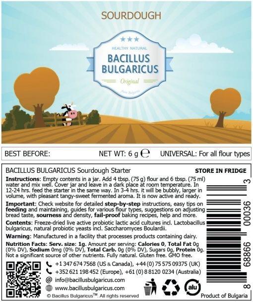 Sourdough label